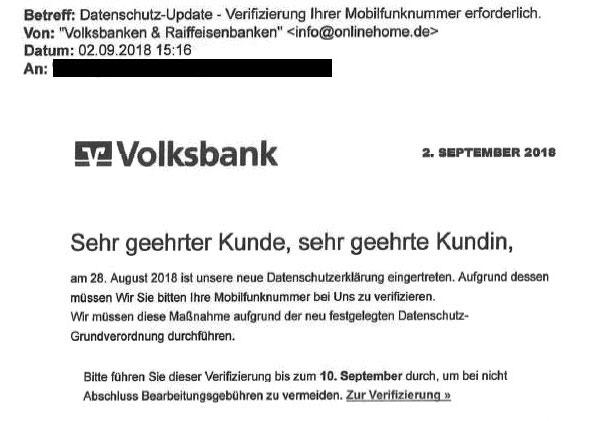 Phishing-Mail Identitätsprüfung